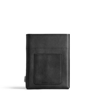 A5 Vegan Black Leather Sleeve memobottle