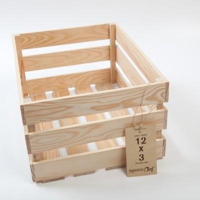 Caixa de Fruta média, 12x3