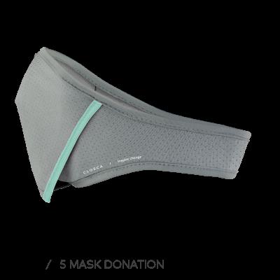 GRAY/GLACIER CLOSCA™ MASK + 6 FILTERS