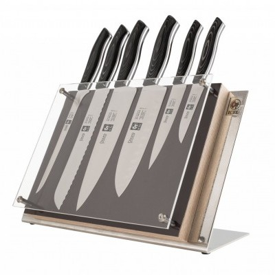Bloco para facas com 6 peças, Douro Gourmet