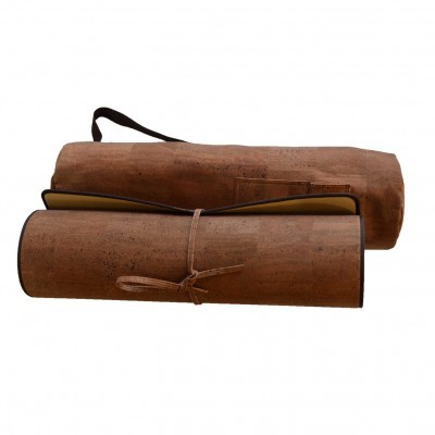 Yoga Cork Mat & Bag Brown