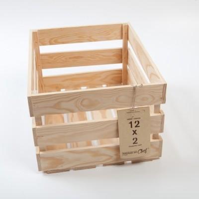 Caixa de Fruta pequena, 12x2