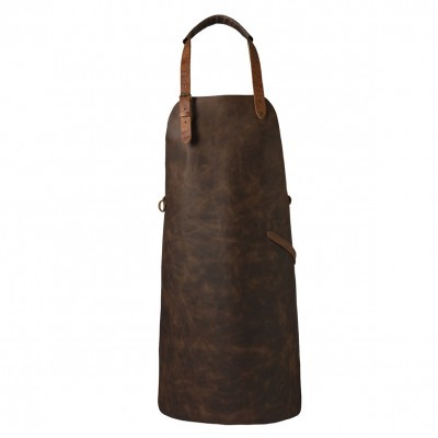 VINTAGE LEATHER APRON COGNAC