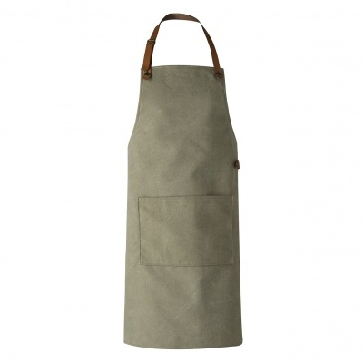 Washed Canvas Apron - Green