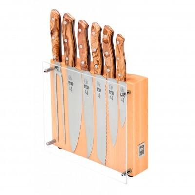 Bloco para facas com 6 peças, Nature