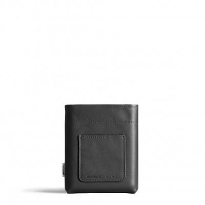 A6 Vegan Black Leather Sleeve memobottle
