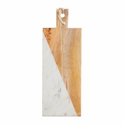 Marble & Wood Rectangular Serving Board
