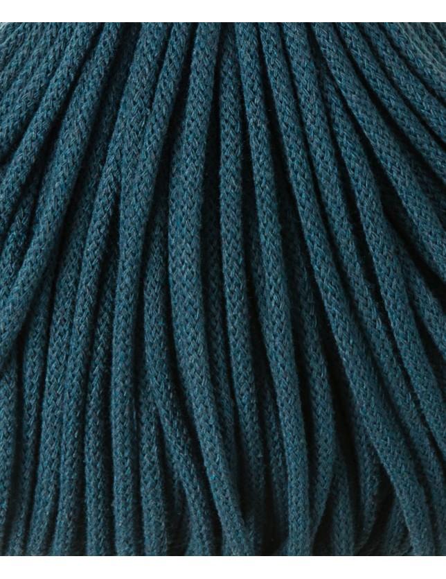 """Fio de algodão entrançado 5mm """"Bobbiny""""  Peacock Blue (100 metros)"""