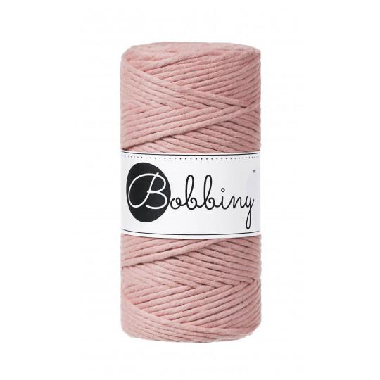 """Fio de algodão torcido 3mm """"Bobbiny""""   Blush"""