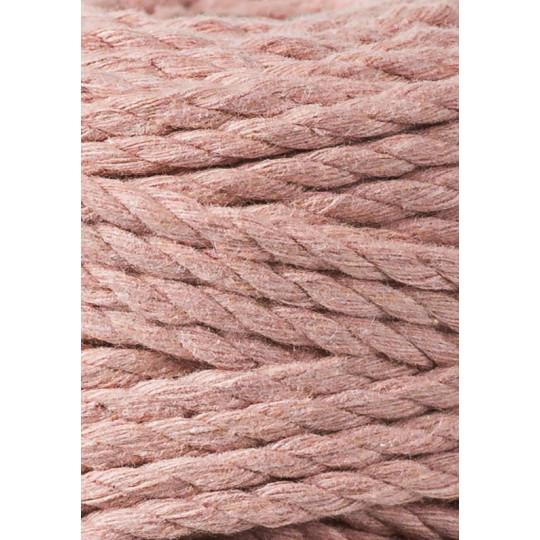 "Corda torcida de 3 cabos - 5mm ""Bobbiny"" | Blush (100 metros)"