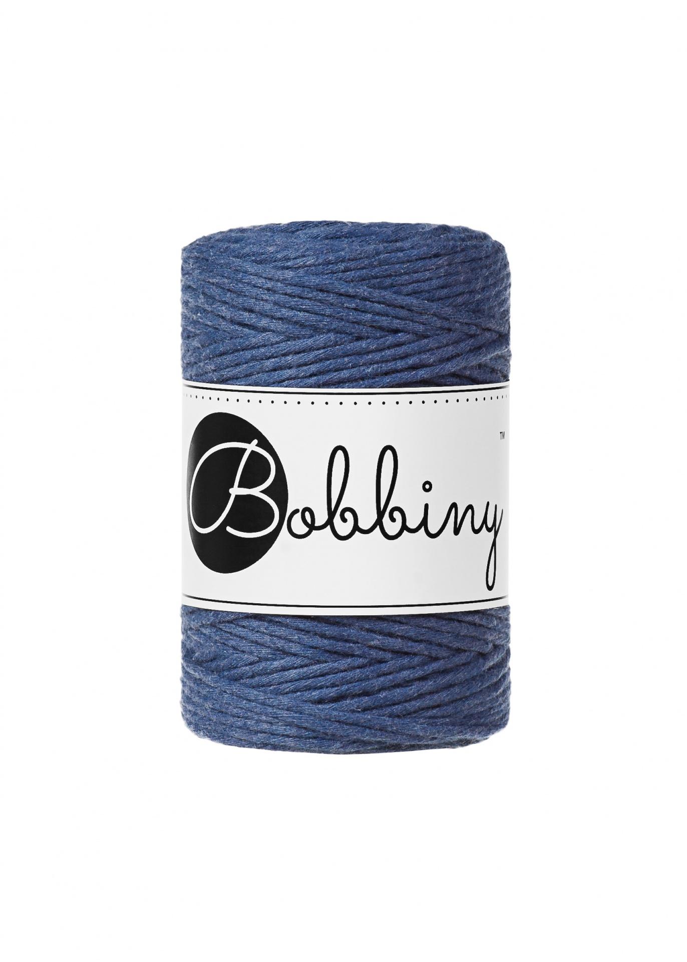 """Fio de algodão torcido 1.5mm """"Bobbiny""""   Jeans"""