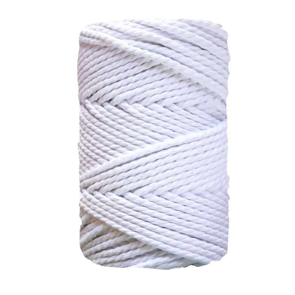 Corda torcida de 3 cabos - 5mm | Branco