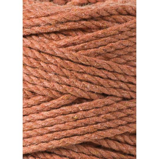 """Corda torcida de 3 cabos """"Bobbiny"""" - 3mm   Terracota"""