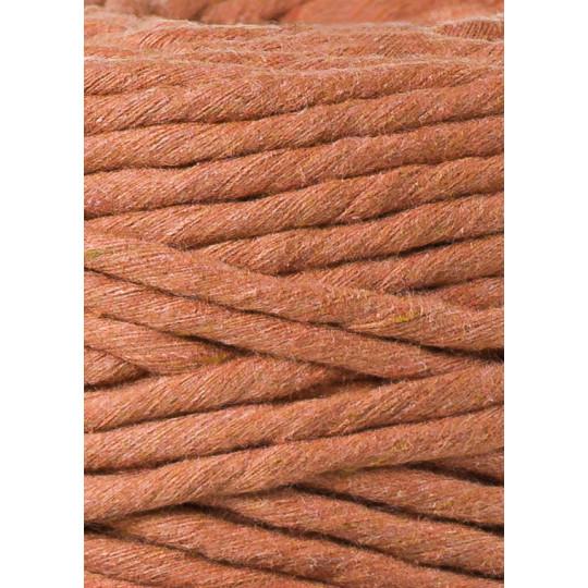 """Fio de algodão torcido 5mm """"Bobbiny""""   Terracota"""