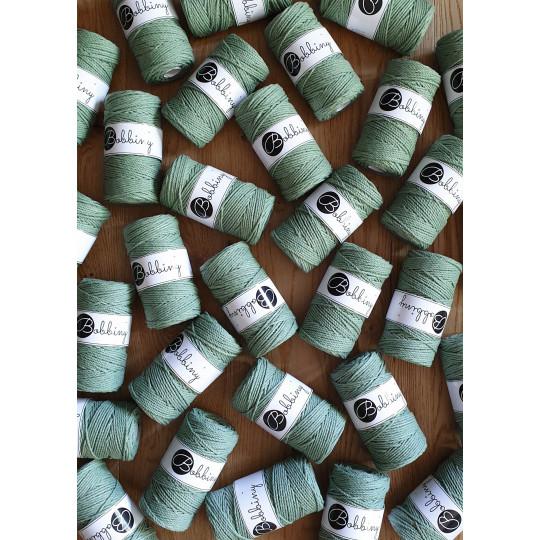 """Corda torcida de 3 cabos """"Bobbiny"""" - 3mm   Eucalyptus Green"""