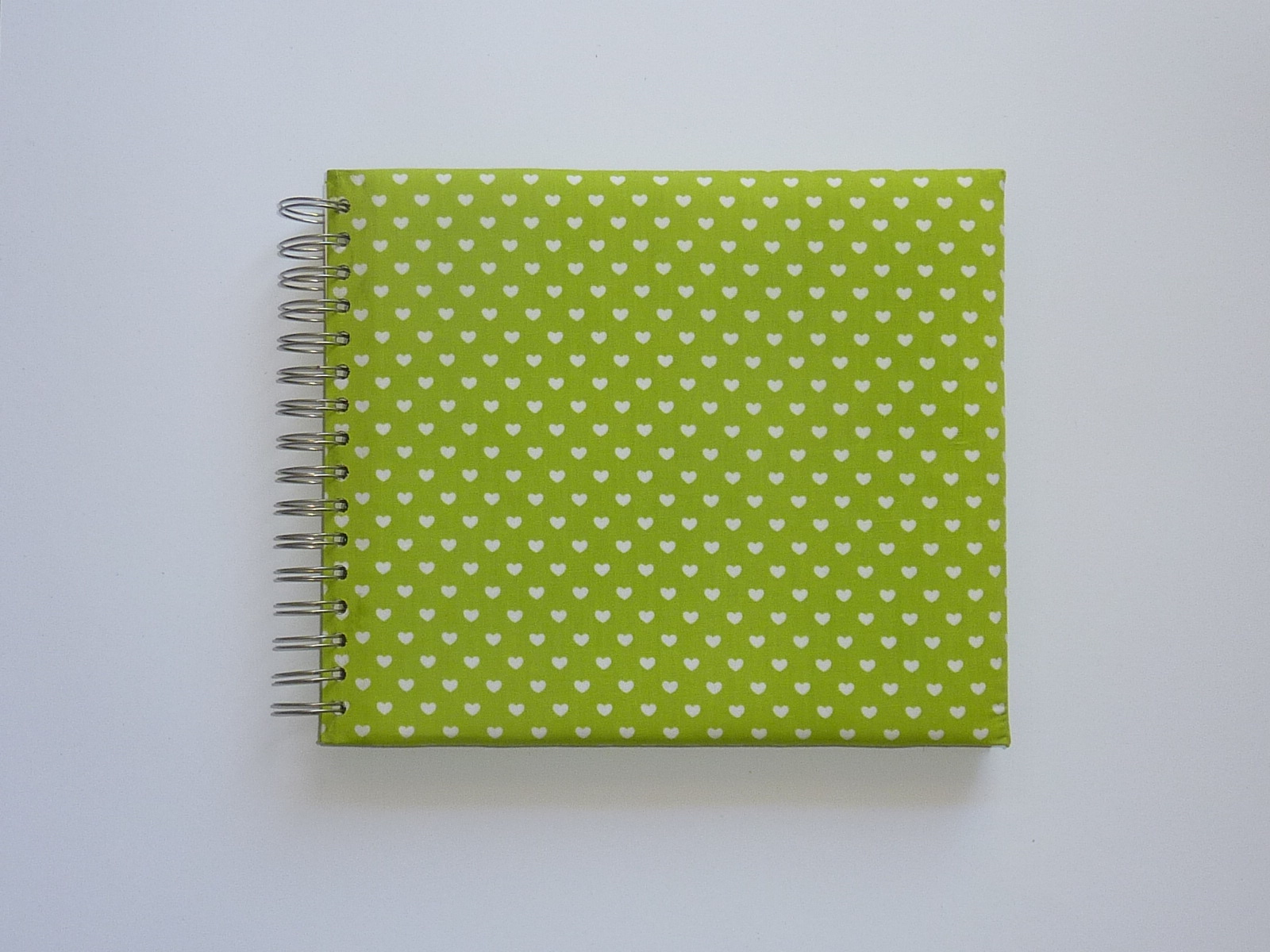 Green with white hearts (The baby's notebook)