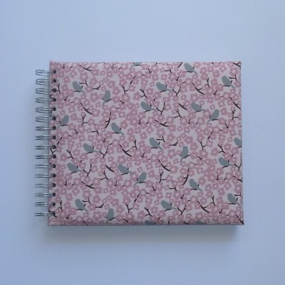 Pink with grey little birds (The baby's notebook)