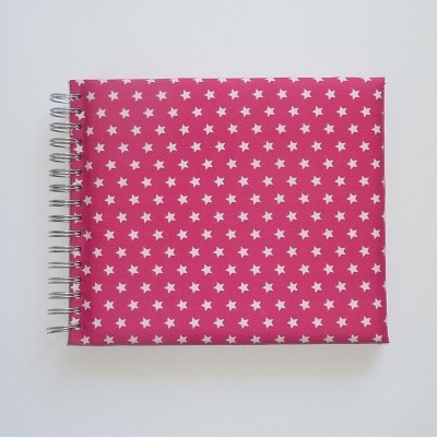 Pink with white stars (The baby's notebook)