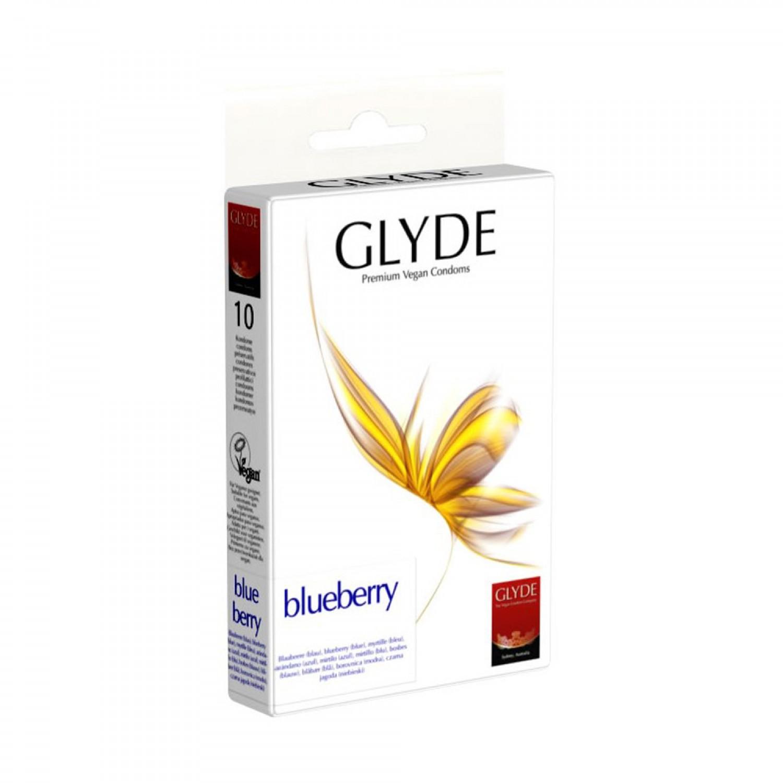 Preservativos Glyde - Sabor mirtilo