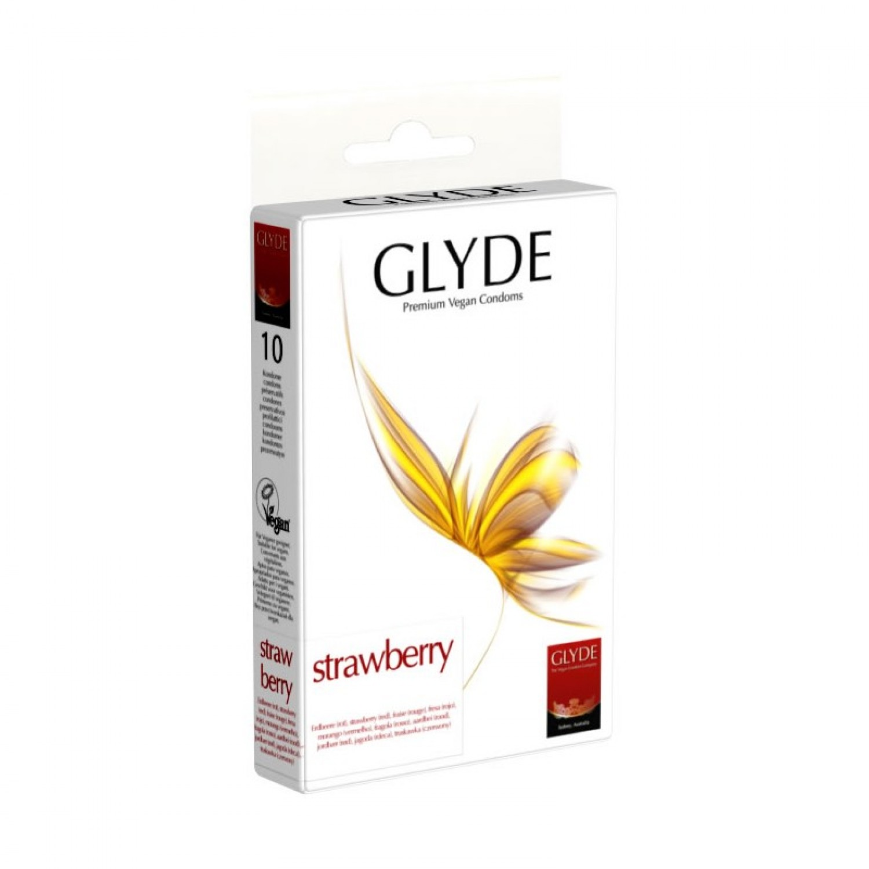 Preservativos Glyde - Sabor morango