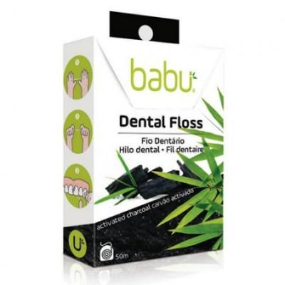 Fio Dentário Babu - Carvão Activado