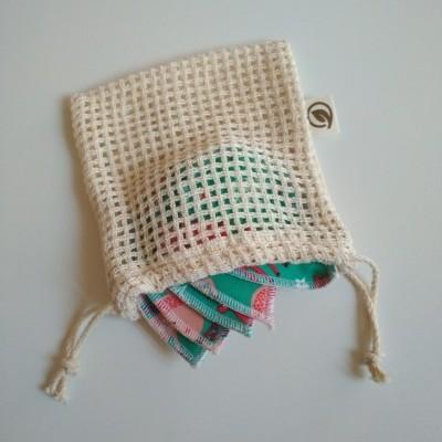 Saco de rede com cordão