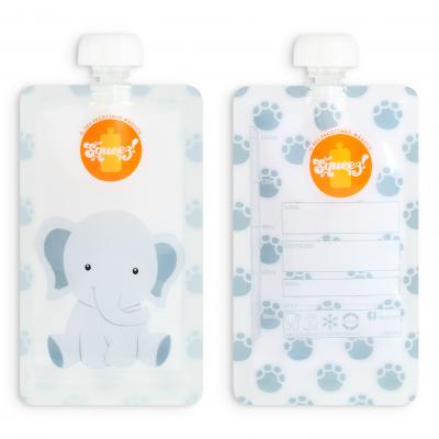 Pacote reutilizável Squeez - Elefante 150ml