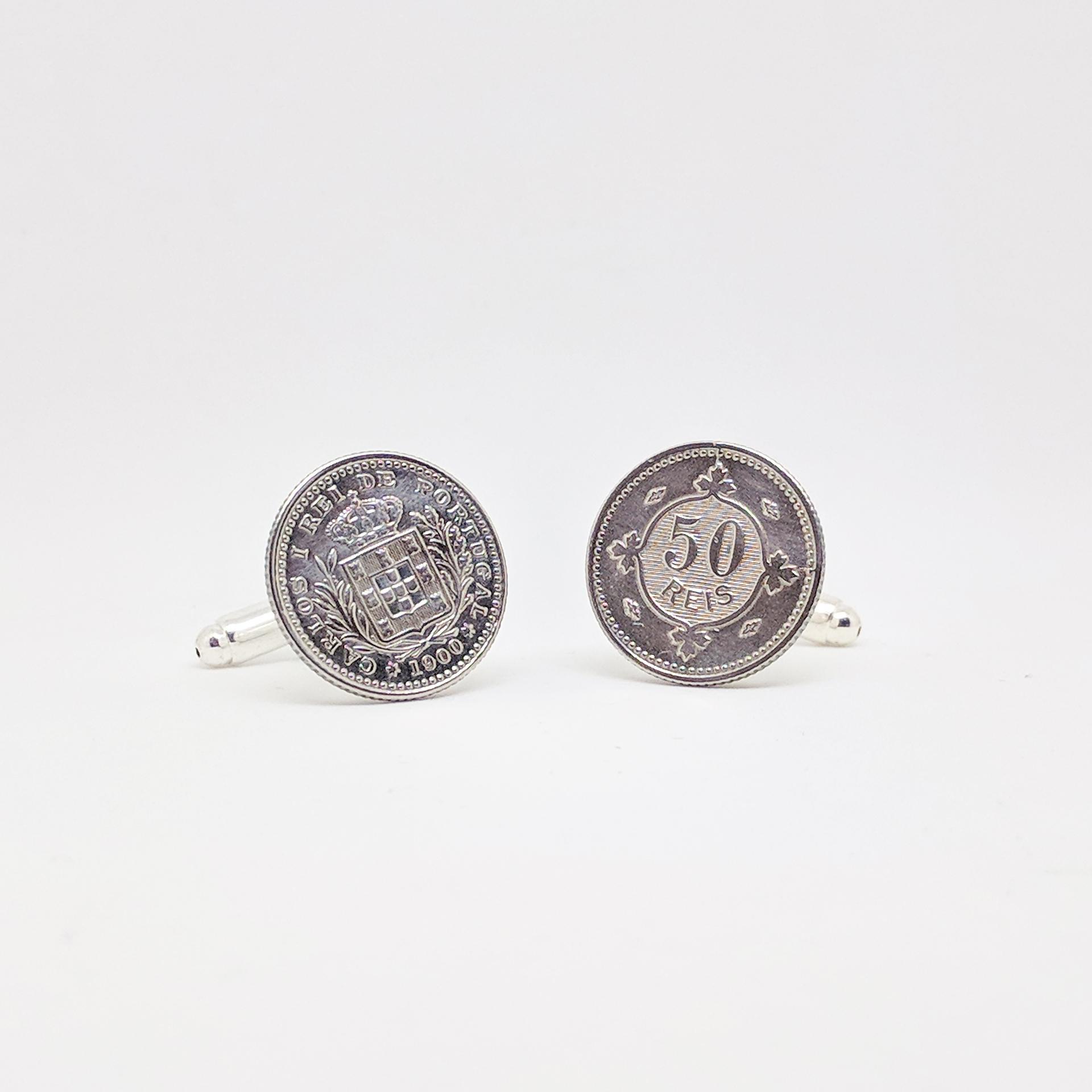 Botões de punho 50 Reis 1900