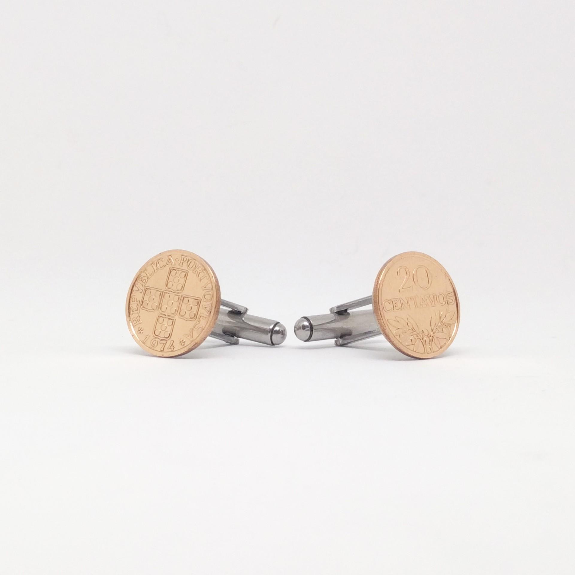 Botões de punho $20 Centavos
