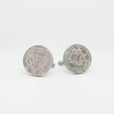 Botões de punho 2$50 Escudos (Prata)