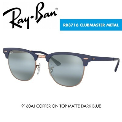 Óculos de sol Ray-Ban RB3716 CLUBMASTER METAL