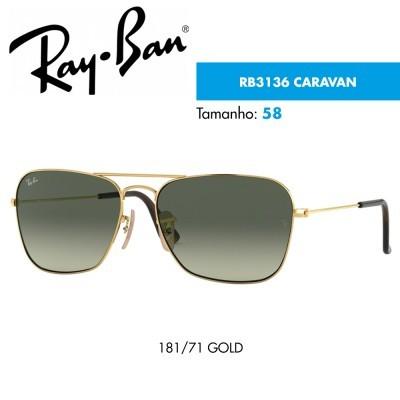 Óculos de sol Ray-Ban RB3136 CARAVAN