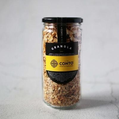 granola artesanal com flocos de coco