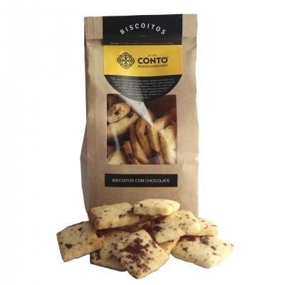 Biscoitos artesanais com chocolate