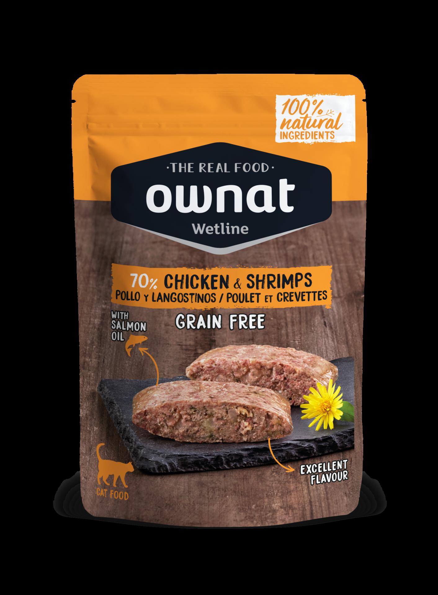OWNAT CAT CHICKEN & SHRIMPS 85GR