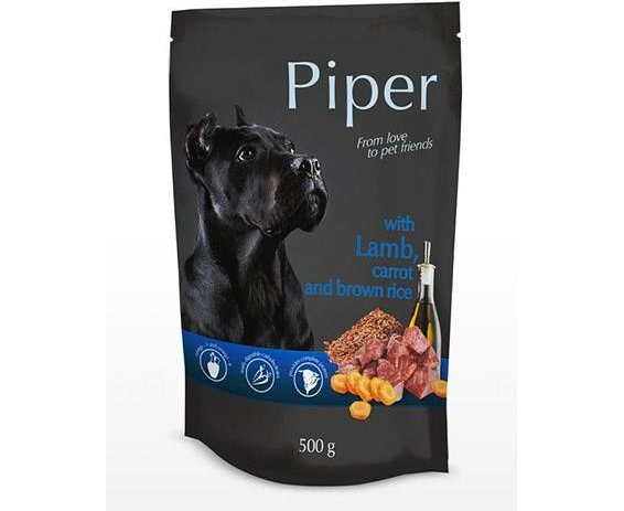 Piper - Borrego, Cenoura e Arroz Integral 500gr