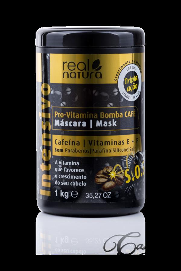 Real Natura - Máscara Pro-Vitamina Bomba Café