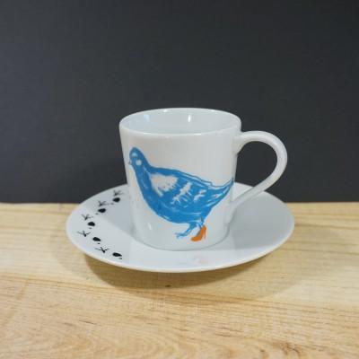 Dona Migalhas (azul & laranja) - Chávena de café