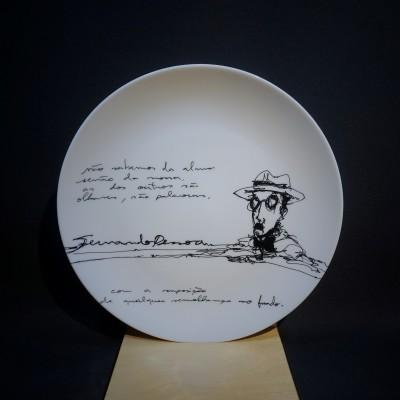 Fernando Pessoa #1 - Prato sobremesa