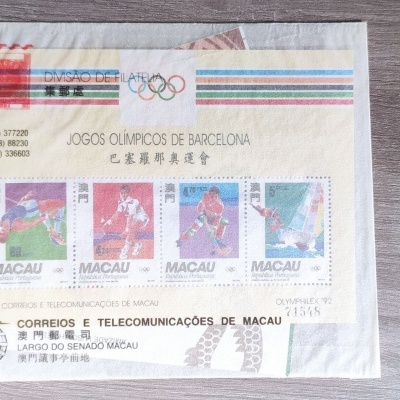 2 Blocos e Caderneta Macau 1992