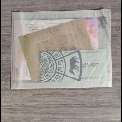 2 Blocos e Caderneta Macau 1991