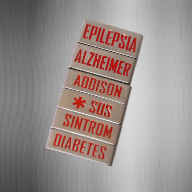 Chapas de alerta médico