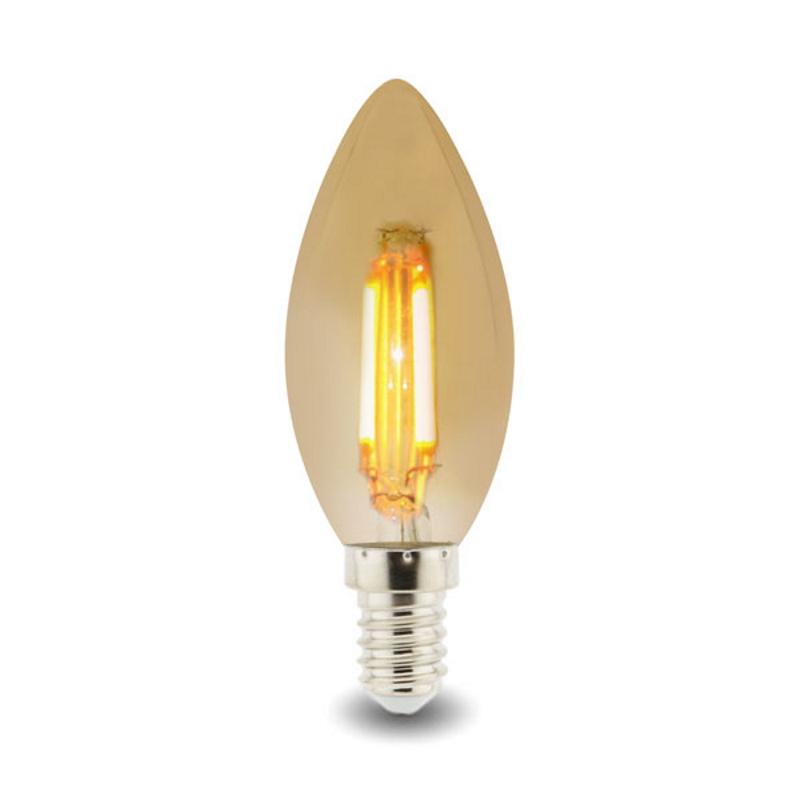 LED Lâmpada E14 Filamento 4W 2300K