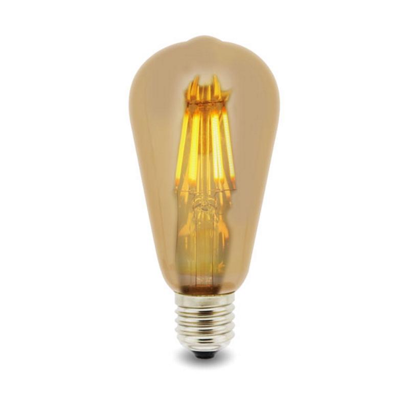 LED Lâmpada Filamentos E27 ST64 6W 2300K