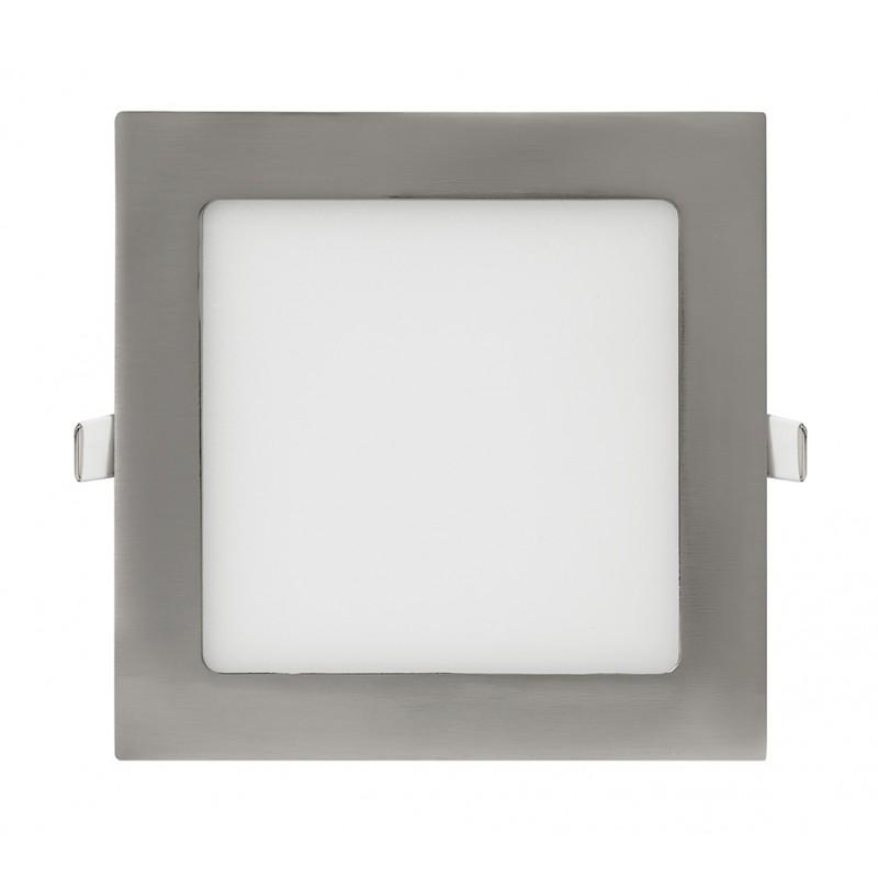LED Downlight Quadrado 6W Niquelado