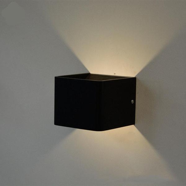 LED Aplique Cubo 6W Preto