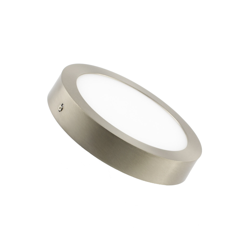 LED Downlight Redondo Superfície 6W Niquelado