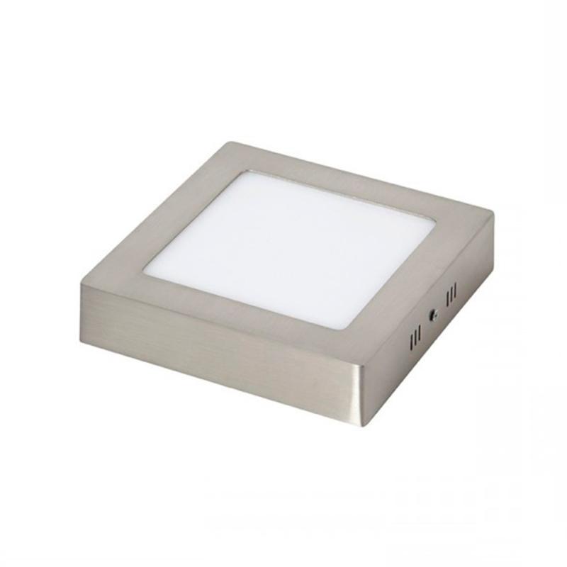 LED Painel Superfície Quadrado 6W Niquelado