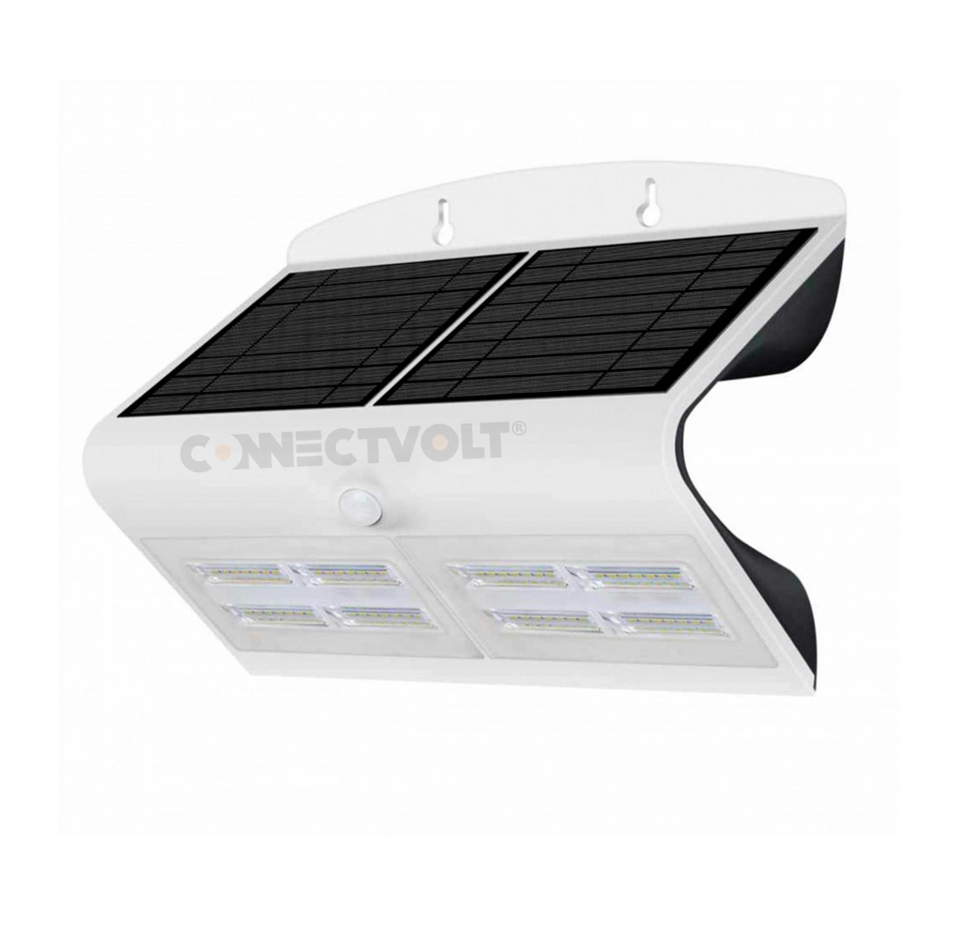 LED Luminária SOLAR 6.8W 6000K com Sensor