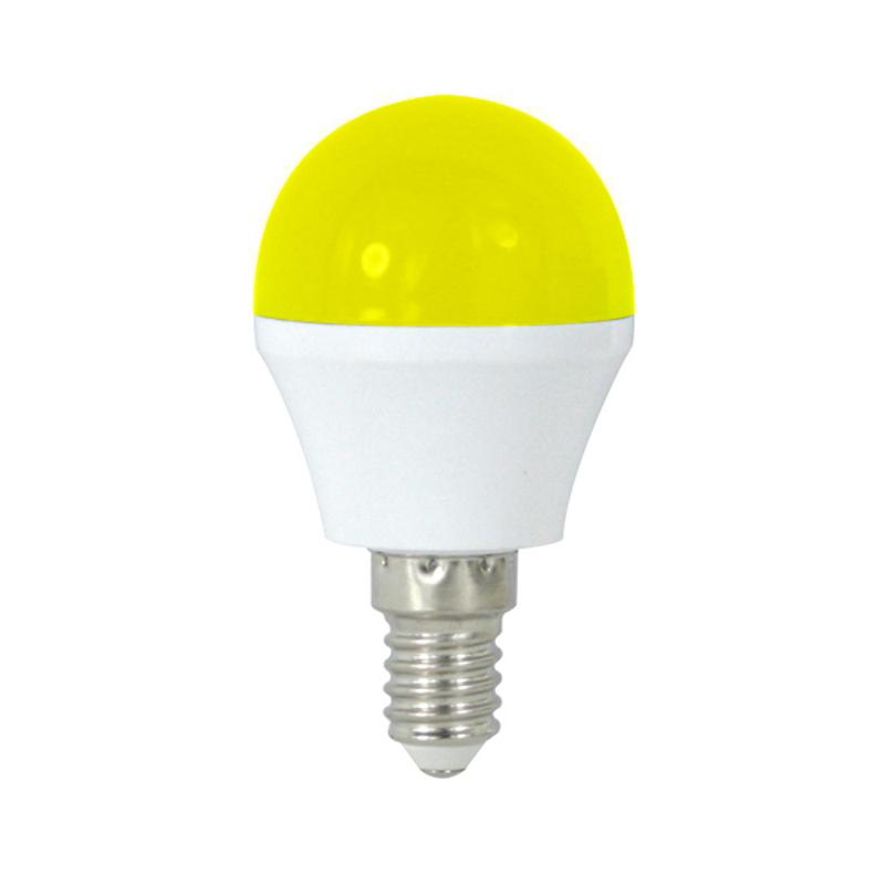 LED Lâmpada E14 G45 4W Amarelo